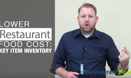 Key Item Inventory to Lower Restaurant Food Cost Percentage