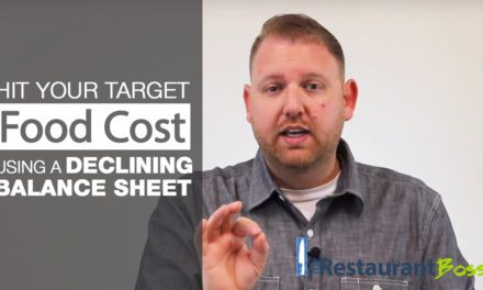 Hit Your Food Cost Target Using a Declining Balance Sheet