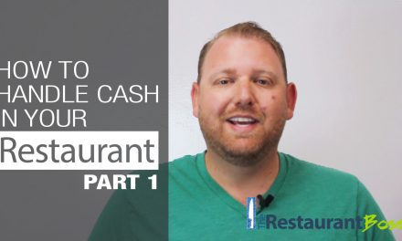 How to Handle Cash in your Restaurant – Part 1