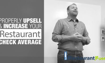 Properly Upsell and Increase your Restaurant Check Average