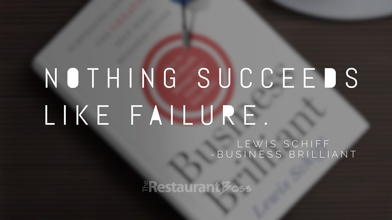 """""""Nothing succeeds like failure"""" – Lewis Schiff"""