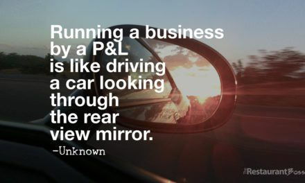 """Running a business by a P&L is like driving a car looking through the rear view mirror."" – Unknown"