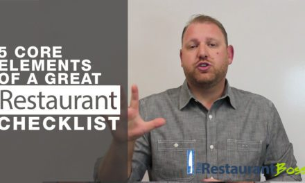 5 Core Elements of a great Restaurant Checklist