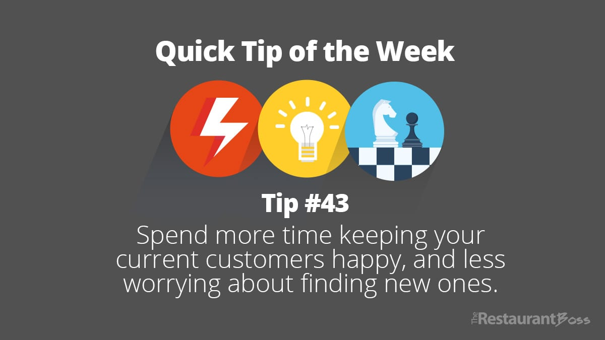 Spend more time keeping your current customers happy, and less worrying about finding new ones.