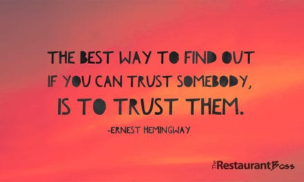 """""""The Best way to find out if you can trust somebody, is to trust them."""" Ernest Hemingway"""