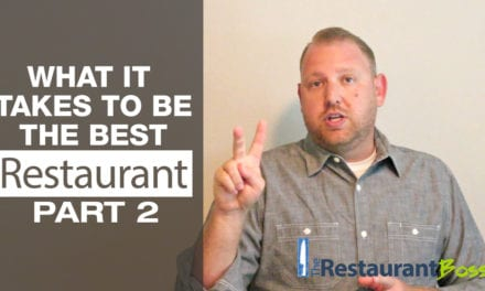 What it Takes to be the Best Restaurant Part 2