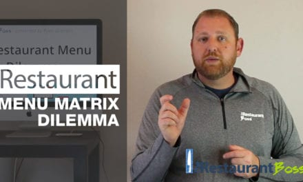 The Restaurant Menu Matrix Dilemma