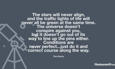 """""""The stars will never align, and the traffic lights of life will never all be green at the same time. The universe doesn't conspire against you, but it doesn't go out of its way to line up the pins either. Conditions are never perfect…just do it and correct course along the way."""" – Tim Ferris"""
