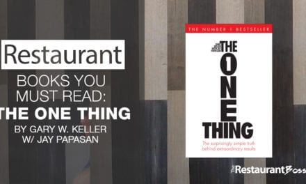 A Book All Restaurant Owners Need to Read: The One Thing