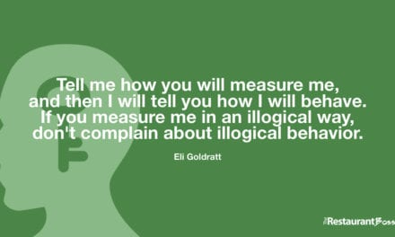 """""""Tell me how you will measure me, and then I will tell you how I will behave. If you measure me in an illogical way, don't complain about illogical behavior."""" – Eli Goldratt"""