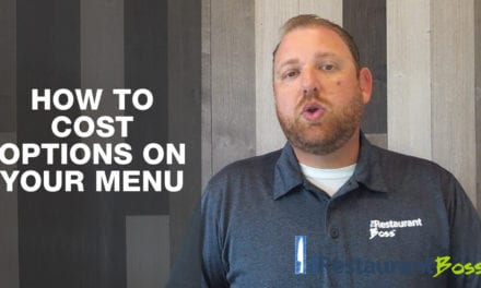 How to Cost Options on Your Menus