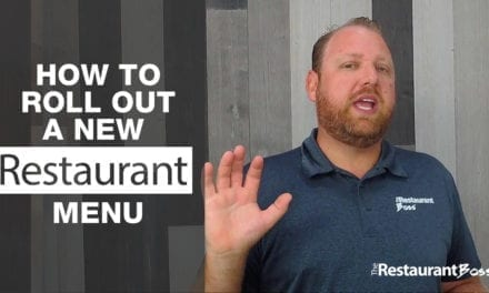 How to Roll out a New Restaurant Menu